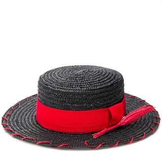 Ruslan Baginskiy flat brim straw hat