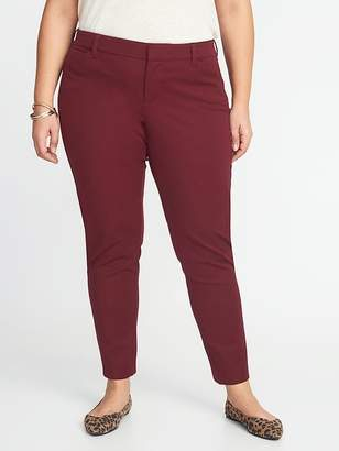 Old Navy Mid-Rise Secret-Slim Pockets Plus-Size Pixie Ankle Pants