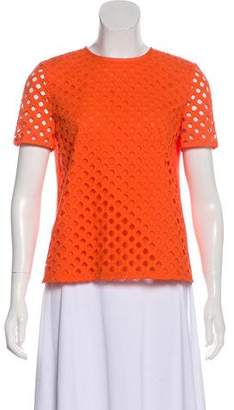 Tory Burch Eyelet Short Sleeve Top