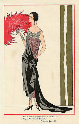 One Kings Lane Vintage French Evening Gown - 1924 - Prints with a Past