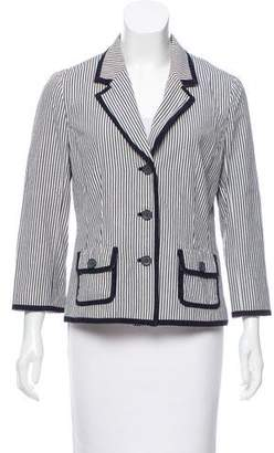 Tory Burch Notch-Lapel Striped Blazer