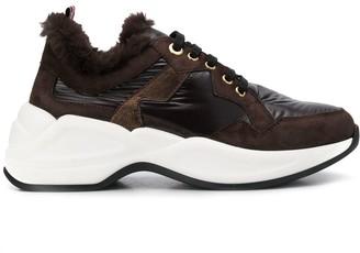 Tosca faux fur low top sneakers
