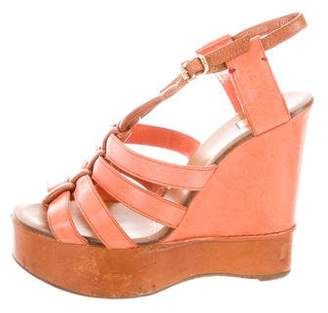 Chloé Leather Platform Wedges