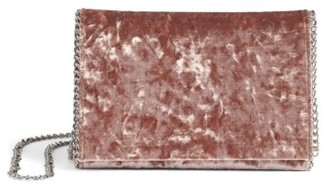 Chelsea28 Velvet & Chain Clutch - Brown $59 thestylecure.com