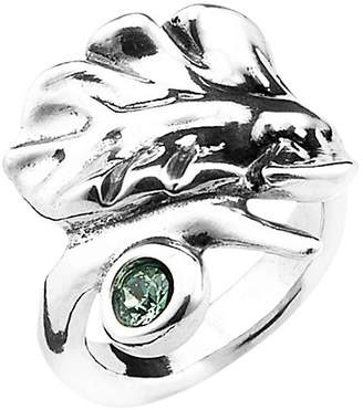 Uno de 50 Leaves Crystal Cocktail Ring