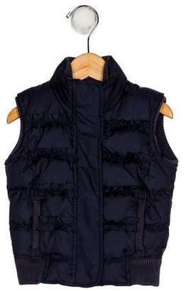 Juicy Couture Girls' Mock Neck Down Vest