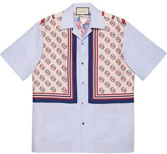 Gucci Oxford cotton and silk bowling shirt