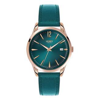 Henry London - Ladies 39mm Stratford Mallard Green Leather Watch
