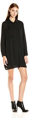 Kensie Women's Drapey Crepe Shirt Dress with Pockets $24.99 thestylecure.com