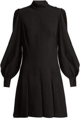 Proenza Schouler Long Sleeved Crepe Dress - Womens - Black