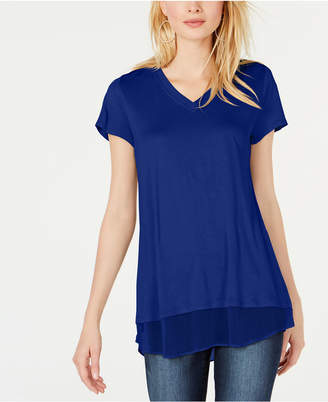 INC International Concepts I.N.C. Petite V-Neck Tunic, Created for Macy's