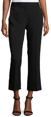 T by Alexander Wang Twill Cropped Flare Pants, Black $350 thestylecure.com