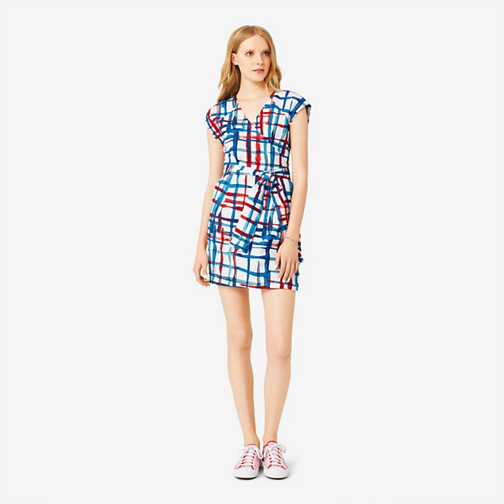 Kate Spade Saturday Wrap-It-Up Dress in Painted Plaid