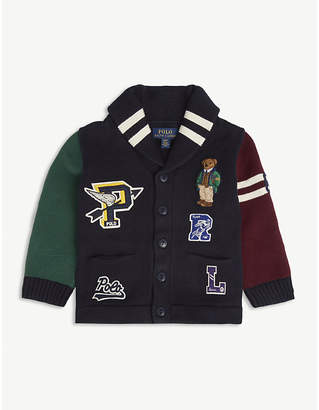 Ralph Lauren Varsity patches cotton cardigan 2-14 years