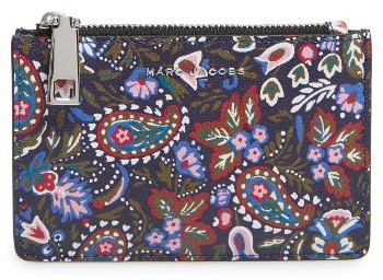 Marc Jacobs Marc Jacobs Garden Paisley Leather Cosmetics Case