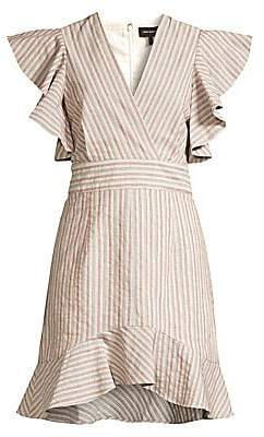 Robert Rodriguez Women's Basia Ruffle Stripe Dress - Size 0