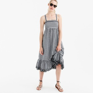 Petite puckered gingham dress with eyelet trim $138 thestylecure.com