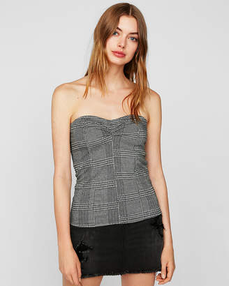 610333a2bb Express One Eleven Plaid Ruched Tube Top