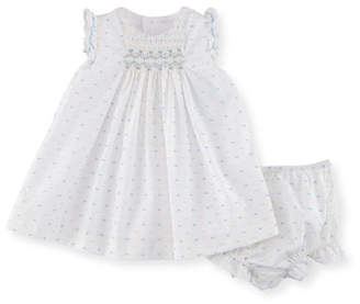 Luli & Me Swiss Dot Dress w/ Ruffle Bloomers, Size Newborn-9M