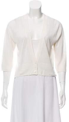 Armani Collezioni Cropped Button-Up Cardigan