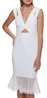 GUESS Lace Cutout Sheath Dress