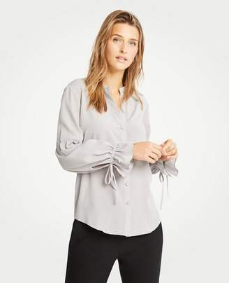 Ann Taylor Petite Tie Sleeve Blouse