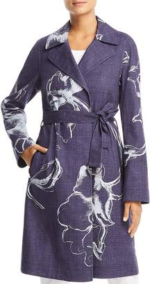 Lafayette 148 New York Dina Printed Trench Coat