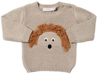 Stella McCartney Hedgehog Cotton Intarsia Knit Sweater
