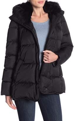 T Tahari Morgan Wide Faux Fur Trim Puffer Jacket