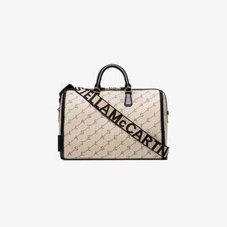Stella McCartney beige mini monogram bowling bag