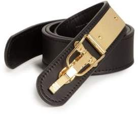 Giuseppe Zanotti Ski Buckle Leather Belt