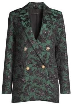 Mother of Pearl Francis Jacquard Double Breasted Blazer