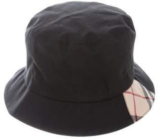 Burberry Check-Trimmed Bucket Hat