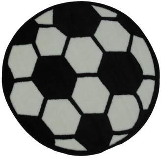Fun Rugs Fun Shape High Pile Soccerball Sports Area Rug Rug