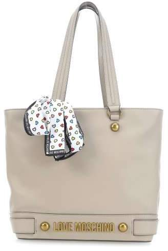 Lettering Shopper taupe