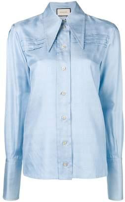 Gucci long peaked collar shirt