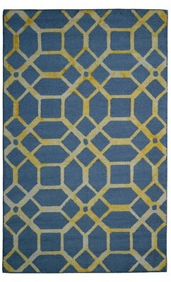 Eastern Weavers Wool Hand-Tufted Gray/Gold Area Rug Eastern Weavers