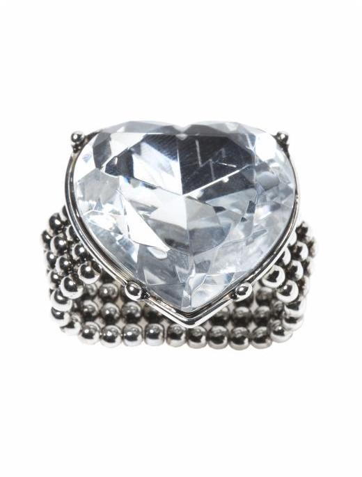 Betsey Johnson Heart Stone Ring