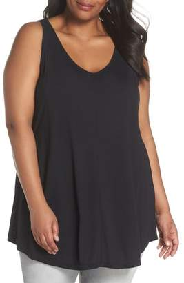 Sejour Pleated Tunic Tank Top