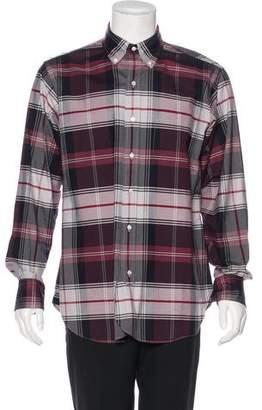 Black Fleece Plaid Woven Shirt