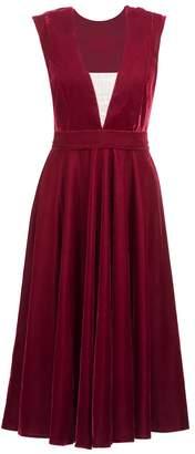 Anna Etter - Gillian Deep V-Neckline Dress