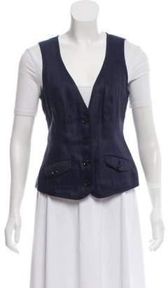 Diane von Furstenberg Reene Linen V-Neck Vest