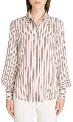 Isabel Marant Ilana Stripe Puff Sleeve Blouse