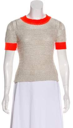 White + Warren Colorblock Knit Top