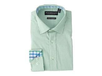 Nick Graham Mini Windowpane Check Stretch Shirt Men's Long Sleeve Button Up
