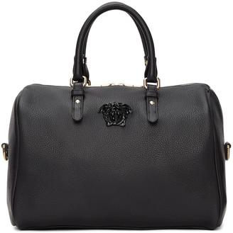 Versace Black Barrel Duffle Bag $1,495 thestylecure.com