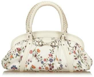 Christian Dior Vintage Jacquard Floral Oblique Handbag