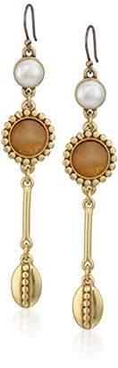Lucky Brand Women's Pearl Linear Drop Earrings