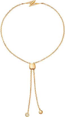 Astley Clarke Mini lightning bolt kula 18ct yellow gold and pavé set sapphire bracelet