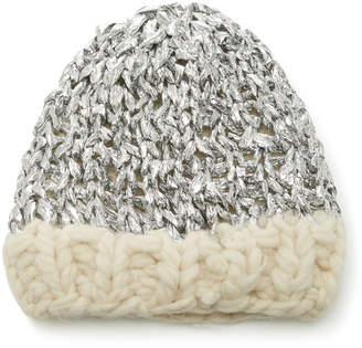 Yestadt Millinery Mylar Metallic Wool Beanie